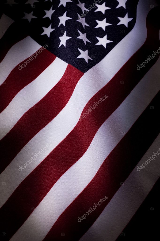 American Flag close up for background — Stock Photo #5753442