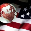 Royalty-Free Stock Photo: Globe and USA Flag