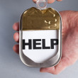 Can and Help — Stock Photo