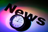 News and clock — Stock Photo