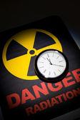Radiation hazard sign — Stock Photo