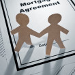 Mortgage Agreement and Paper Chain Men — Stock Photo