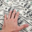 Hundred Dollar Bills — Stock Photo