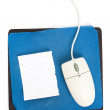 Computer Mouse and old Mouse pad — Stockfoto