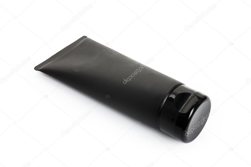 Black Cosmetics Tube with white background — Stock Photo #5899111
