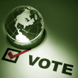 Globe and Voting - Stock Photo