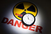 Radiation hazard sign — Stock Photo