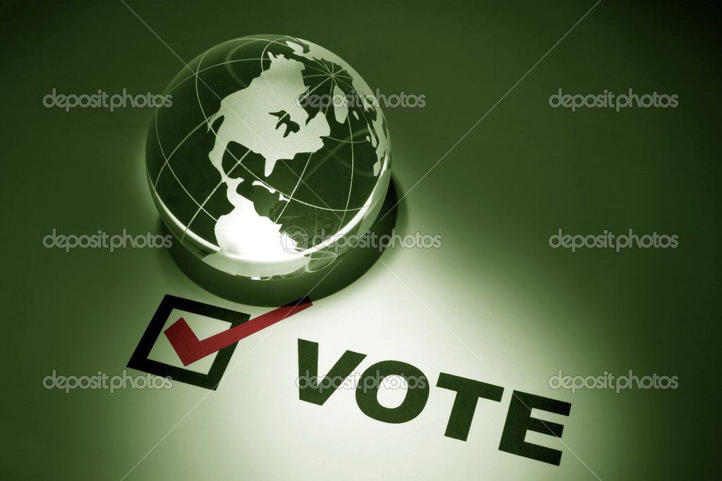 Globe and Voting, concept of Environmental Conservation; — Stock Photo #5920930