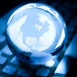 Globe and Computer Keyboard — Stockfoto #5952270