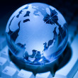 Globe and Computer Keyboard — Stockfoto #5952282