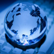 Globe and Computer Keyboard — Stockfoto #6036001