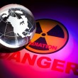Radiation hazard sign - Stock Photo