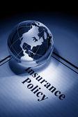 Glóbus a pojištění — Stock fotografie