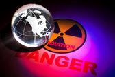 Segno di pericolo radiazioni — Foto Stock