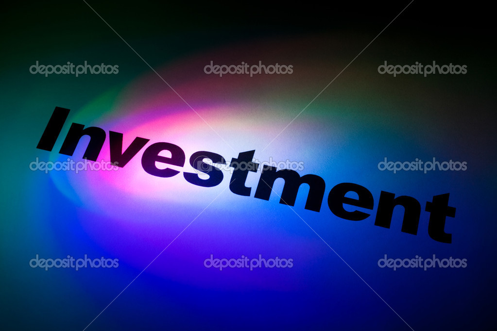 Color light and word of Investment for background — Stock Photo #6036461