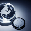 Stock Photo: Globe and clock