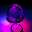 Globe and clock — Stock Photo #6231130