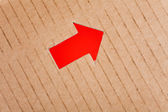 Arrow Sign and cardboard — Stock Photo