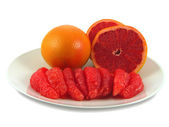 Red grapefruits. — Stock Photo
