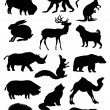 Silhouette animals. - Stock Vector