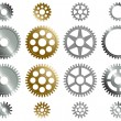 Various gears. - Stock Vector