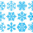 Collection of snowflakes. - Stok Vektör
