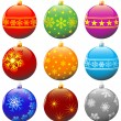 Christmas balls. — Stock Vector