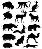 Silhouette animals. — Stock Vector