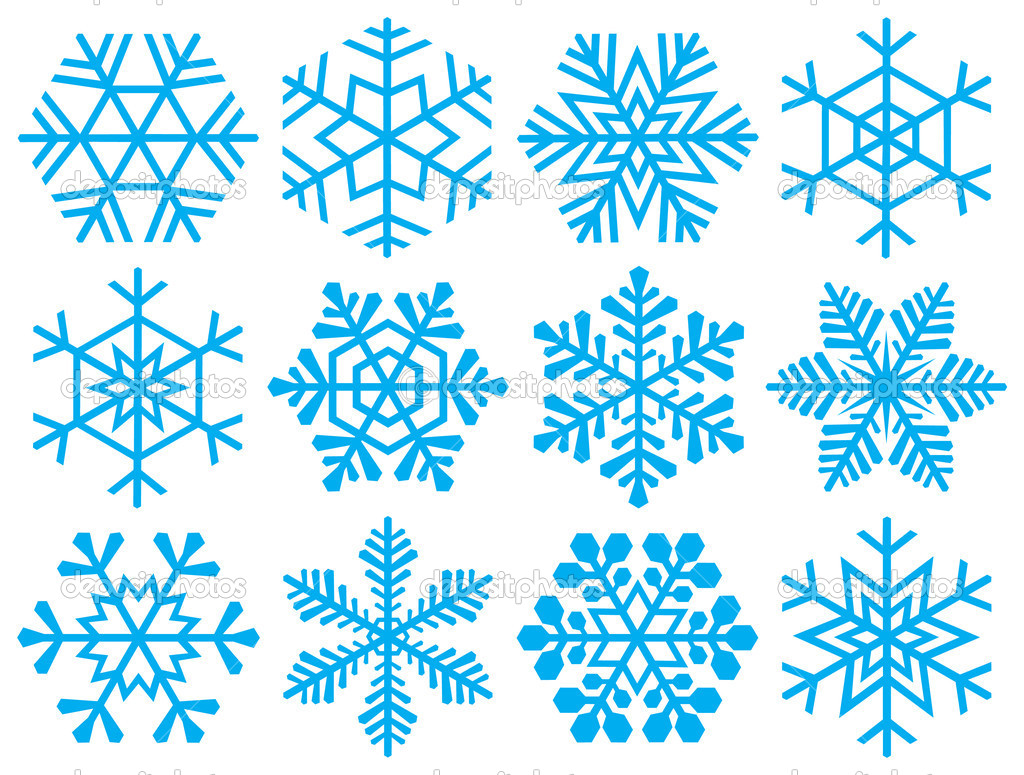 Collection of snowflakes. — Stock Vector #5759682