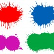 Various blobs of multicoloured ink. — Stockvectorbeeld