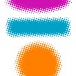 Vector halftone banners. - Stock Vector
