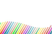 Halftone colorful dots background. — Stock Vector