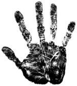 Hand print. — Stock Vector