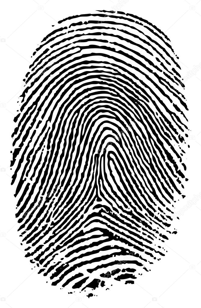 Vector format of finger print. — Stock Vector #5780266