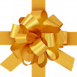 Golden gift bow with ribbon. — Stock Photo #5798671
