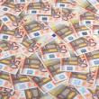 Fifty euro banknotes background. — Stock Photo