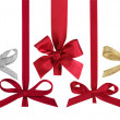 Various ribbons with bows for christmas balls. — Stockfoto #5799110