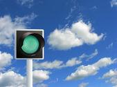Green light — Stock Photo