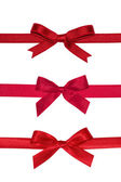 Various red gift bows. — Stock Photo