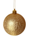 Golden ball of christmas. — Stock Photo