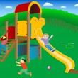 On the playground. - Stock Vector