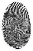 Finger print. — Stock Vector