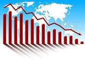 World global economic crisis. — Stock Vector