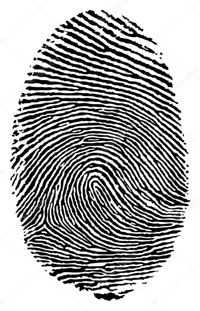 Vector format of finger print. — Stock Vector #5793415