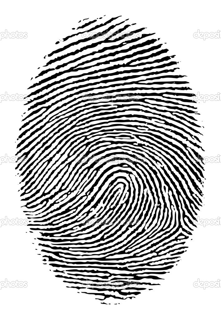 Vector format of finger print. — Stockvectorbeeld #5793495
