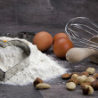 Egg and flour for baking cookies - Photo