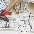 The blueprint of a house — Stock Photo