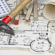 The blueprint of a house — Stock Photo #5749814