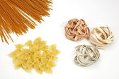 Different sorts of pasta — Stock Photo