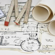 The blueprint of a house - Stock Photo
